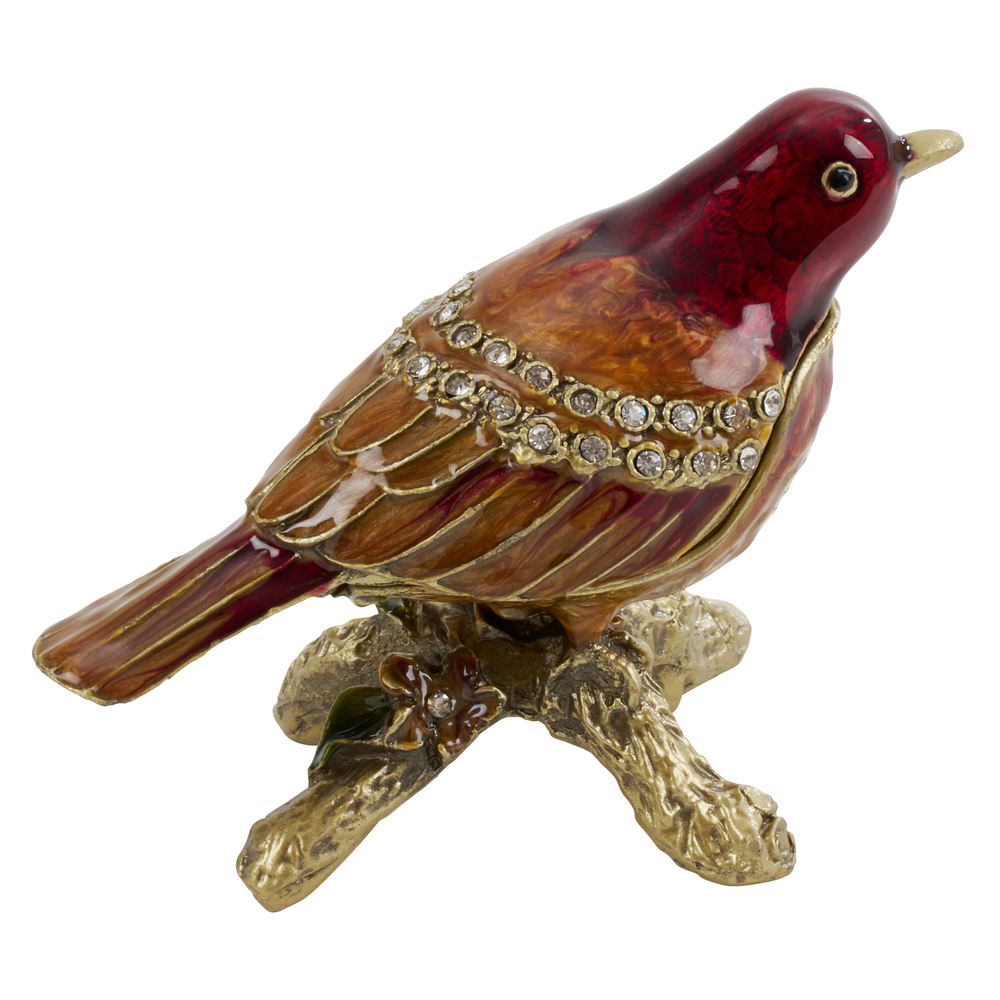 Astoria Grand Perched Swallow Bird Jewelry Box Wayfair