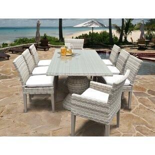 Fairmont 9 Piece Dining Set with Cushions
