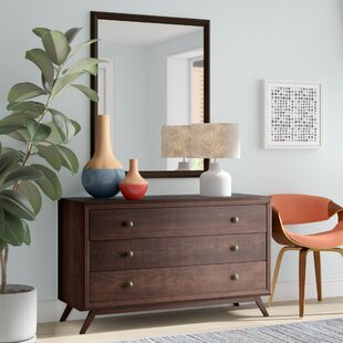 Modesto 3 Drawer Dresser with Mirror