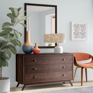 Modesto 3 Drawer Dresser with Mirror