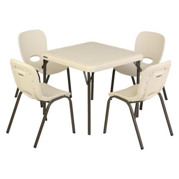 Lifetime Childrens 5 Piece Square Writing Table And Chair Set U0026 Reviews |  Wayfair