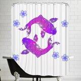 Koi Fish Shower Curtain Wayfair