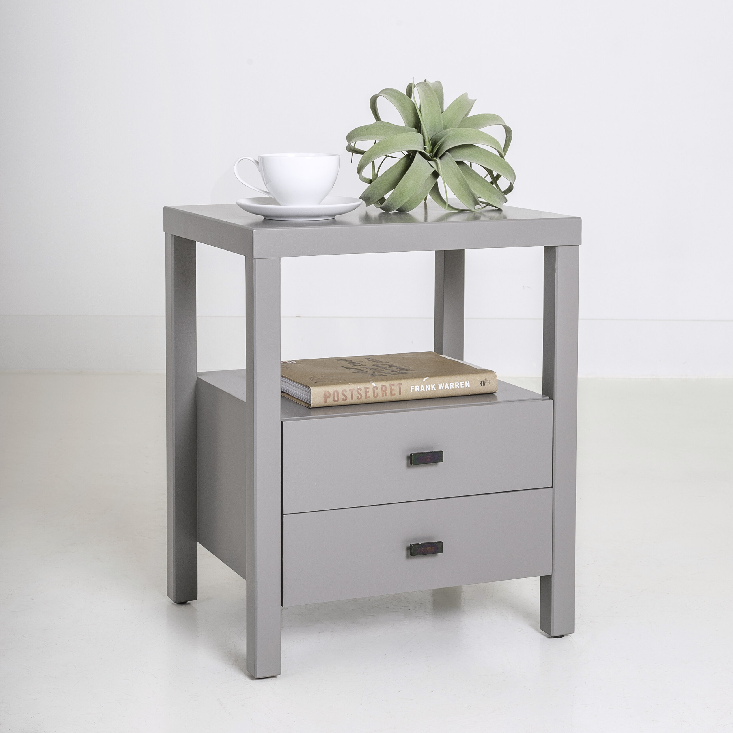 Picture of: Leflore Solid Wood 2 Drawer End Table With Storage Reviews
