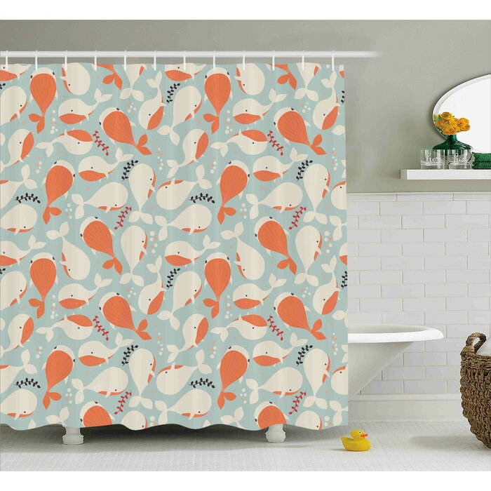 Turner Ocean Animal Whales Shower Curtain