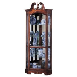 Berkshire Lighted Corner Curio Cabinet by..
