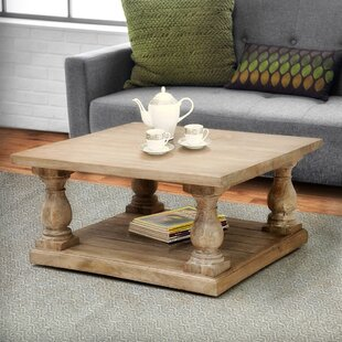 Voss Pedestal Coffee Table by One Allium Way