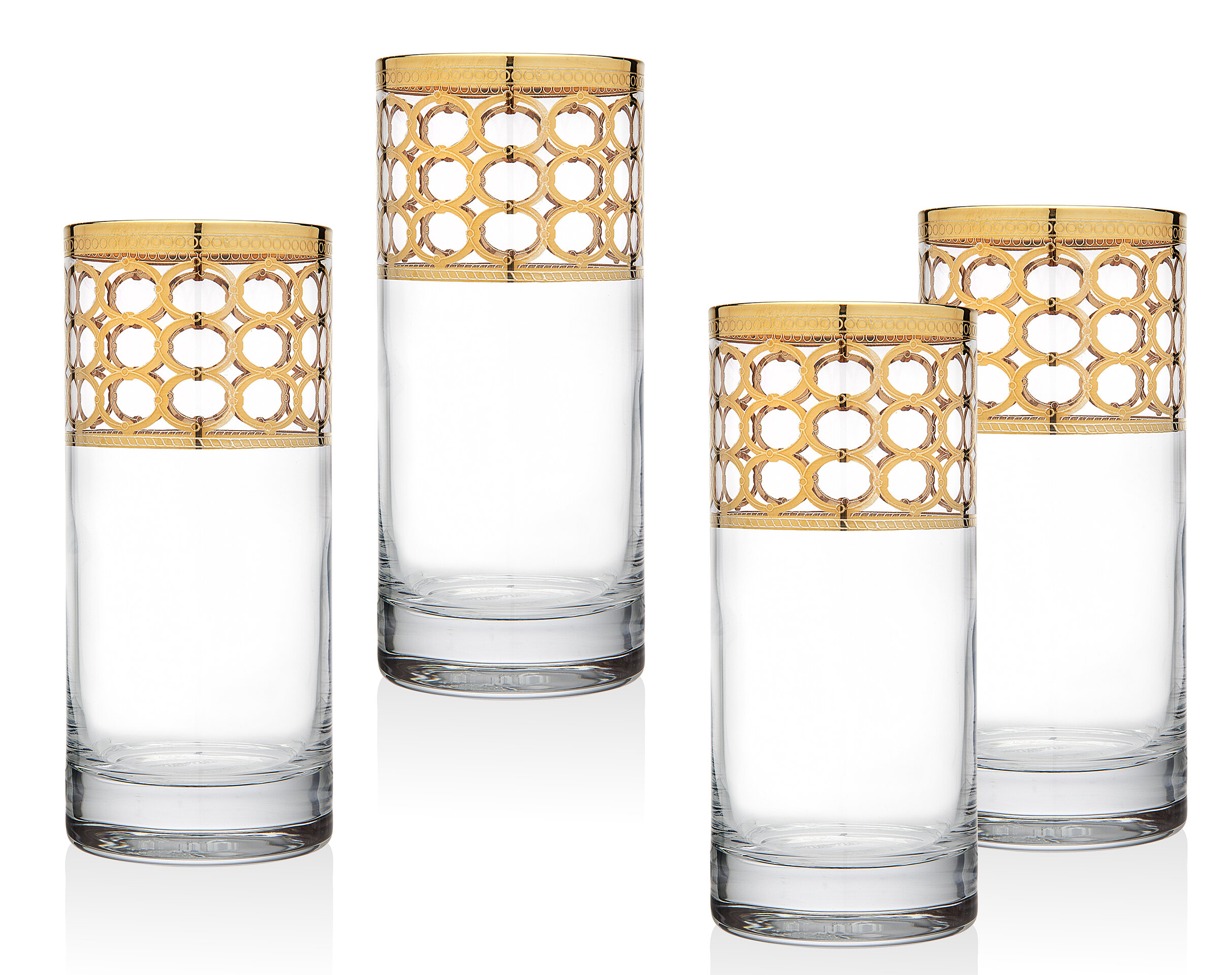 Godinger Silver Art Co Emilio 15 Oz Crystal Highball Glass Wayfair