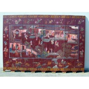 96 X 140 Geisha Village Scene 8 Panel Room Divider By Wayborn