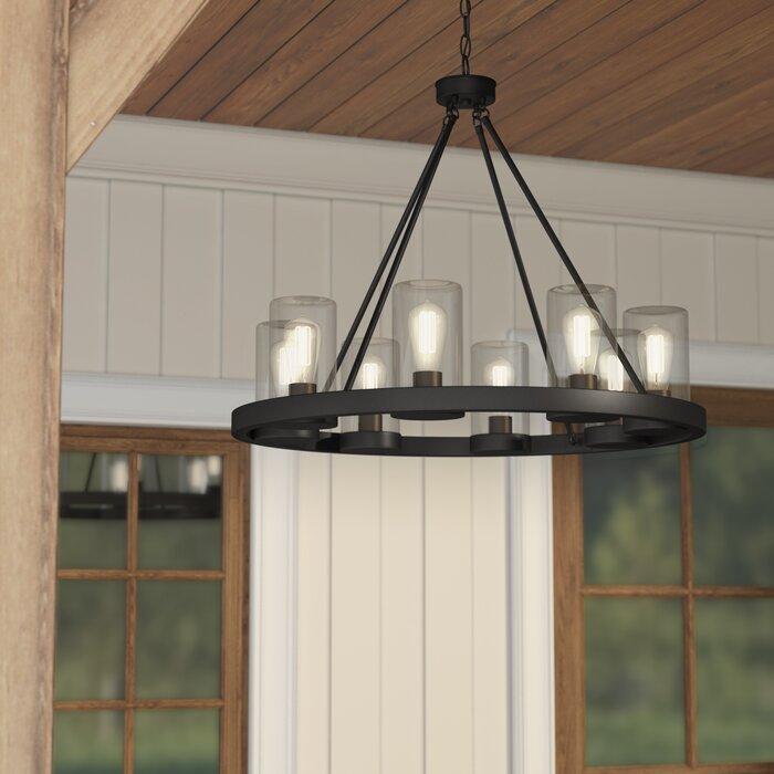 Laurel foundry modern farmhouse mount vernon 8 light outdoor mount vernon 8 light outdoor chandelier aloadofball Images