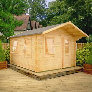Check Price Caspian 8 X 8 Ft. Tongue And Groove Log Cabin