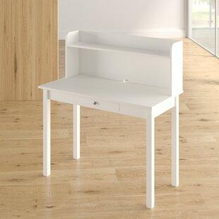 Ebern Designs Bishopville Rectangular Desk with Hutch