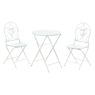 Grace-Ann Patio 3 Piece Bistro Set