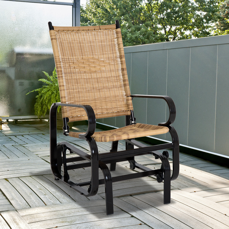 & Bayou Breeze Guerrero Outdoor Glider Chair | Wayfair