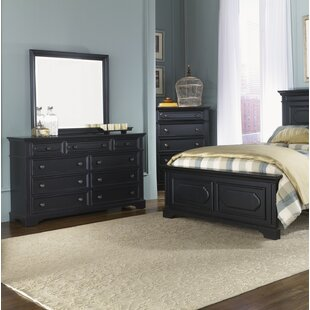 Linda 9 Drawer Double Dresser with Mirror
