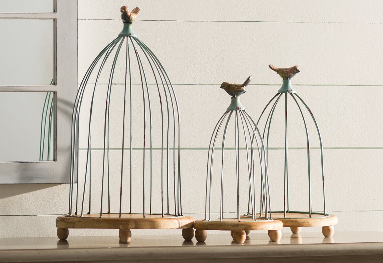 Decorative Bird Cages Part - 41: 3 Piece Decorative Bird Cages Set