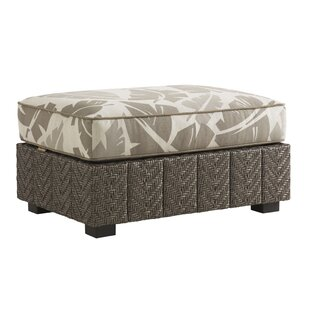 Tommy Bahama Outdoor Blue Olive Ottoman w..