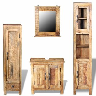 Jameson 3-Piece Bathroom Furniture Set With Mirror By Alpen Home