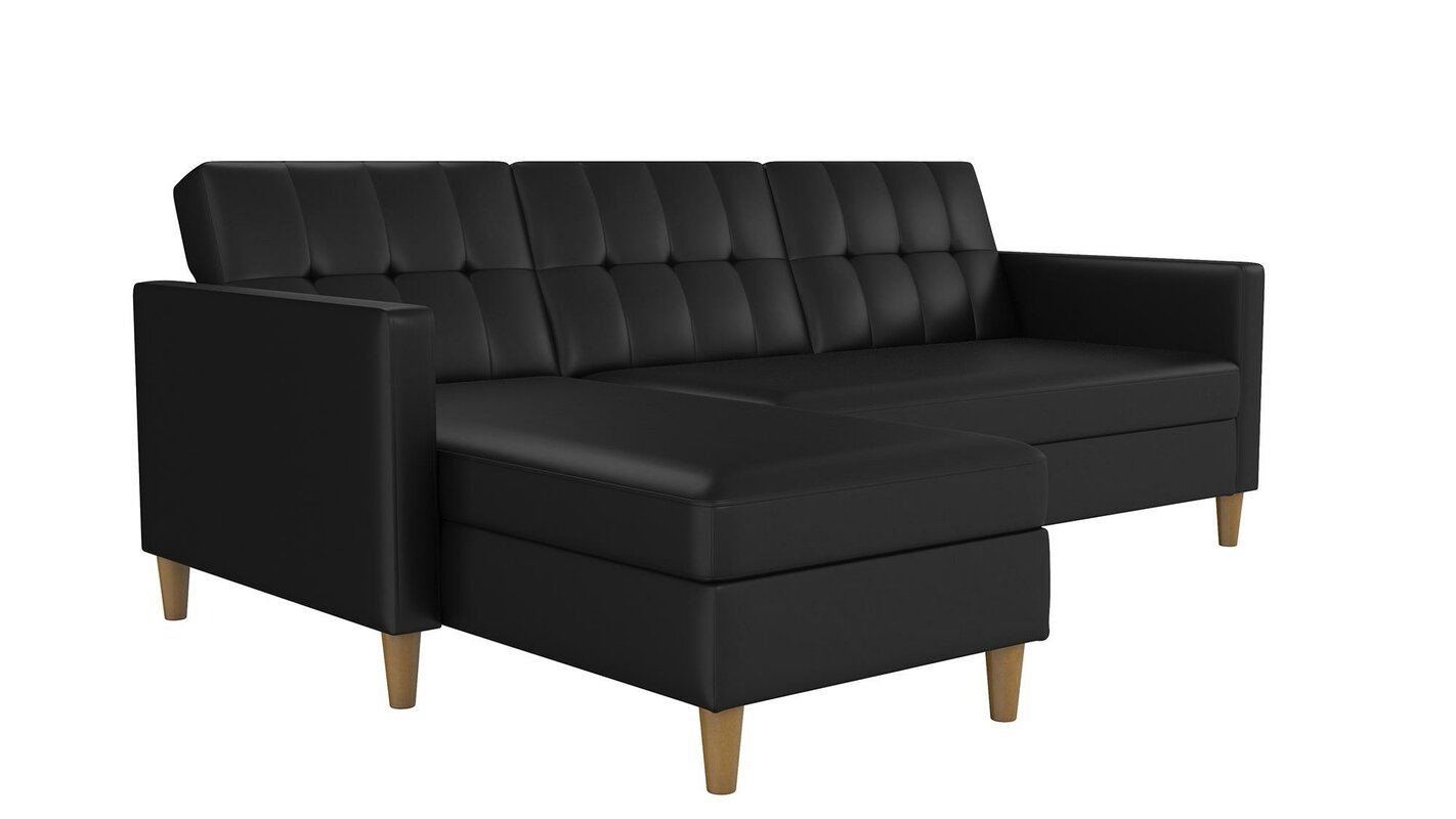 product claire mor sectional media sleeper less furniture rsf right facing image for sand