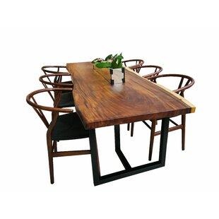 Loon Peak Cular Solid Wood Dining Table
