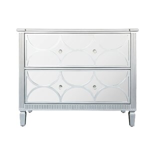 Naber 2 Drawer Mirrored Accent Chest by House of Hampton