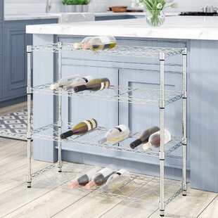 36 Bottle Floor Wine Rack by Rebrilliant