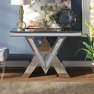 Aayush Mirrored Console Table by Rosdorf Park