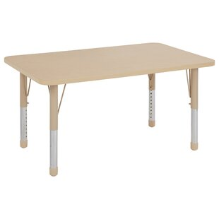 Great Price Maple Top Thermo-Fused Adjustable 30 x 48 Rectangular Activity Table By ECR4kids