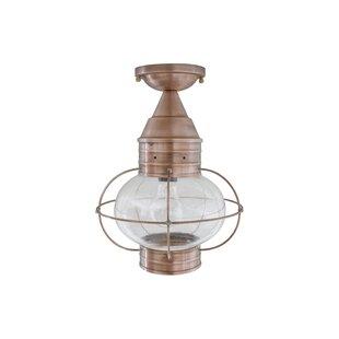 Brass Traditions 600 Series 1-Light Outdoor Semi Flush Mount