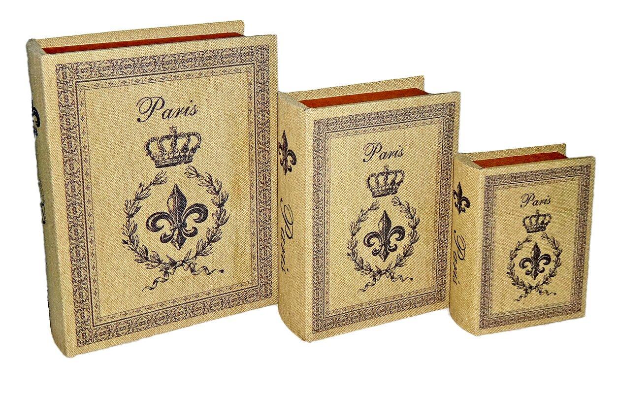 Book Box With Paris, Crown, and Fleur De Lis