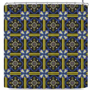 East Urban Home Neelam Kaur Tile Shower Curtain