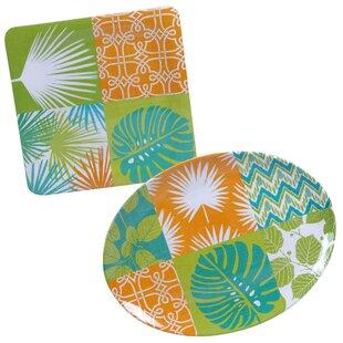 Paradise 2 Piece Melamine Platter Set