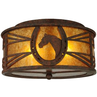 Meyda Tiffany Horseshoe 2-Light Flush Mount