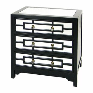 Harpa 3 Drawer Mirror Chest by House of Hampton