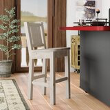Abella Solid Wood 24 Counter Stool by Loon Peak®