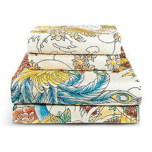 Geisha Garden 300 Thread Count Peacock Sheet Set