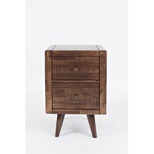 Cardwell Contemporary and Trendy Chairside End Table by Millwood Pines
