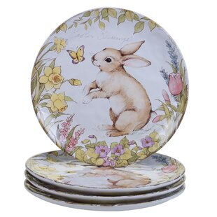 Palfi Dinner Plate (Set of 4)  sc 1 st  Wayfair & Easter Plates u0026 Saucers Youu0027ll Love   Wayfair