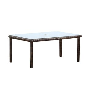 Sperber  Glass Dining Table by Bay Isle H..