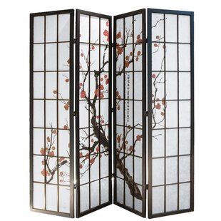 World Menagerie Quesinberry Shoji 4 Panel Room Divider