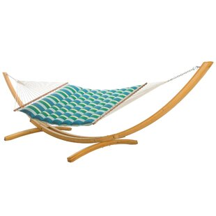 France Pillowtop Double Tree Hammock with Stand by Breakwater Bay