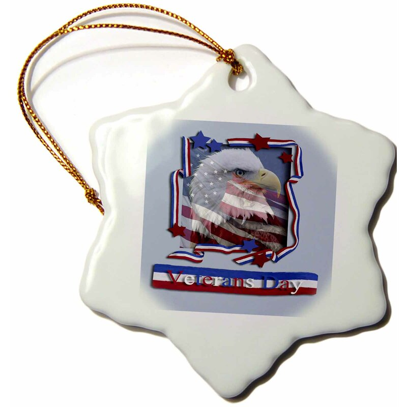 The Holiday Aisle Veterans Day Patriotic Eagle Holiday Shaped Ornament Wayfair