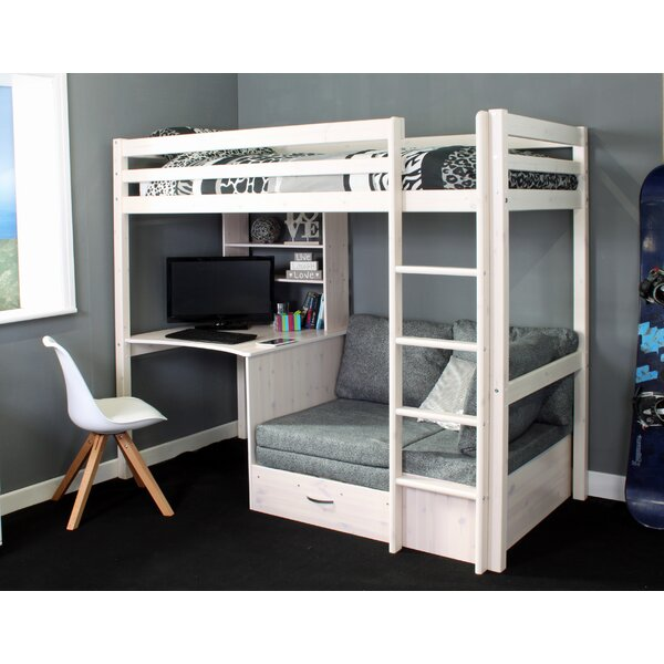 Bunk Bed With Desk And Futon Wayfair Co Uk