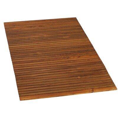 BareDecor Solid Teak Wood Shower Mat & Reviews   Wayfair
