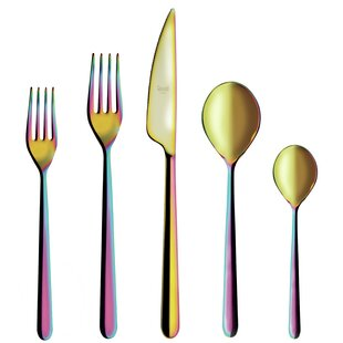 Linea 5 Piece 18/10 Stainless Steel Flatware Set, Service for 1