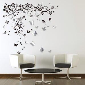 New Huge Butterfly Vine And 3D Mirror Butterflies Sticker Part 91
