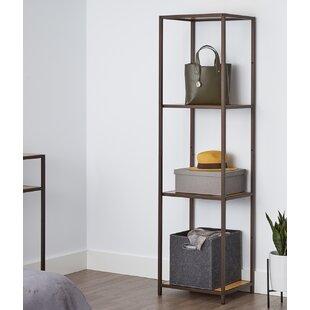 Wooden Shelves 2.8 x 22 cm Solid Oak Hanging Shelf Handmade Black Iron Bracket