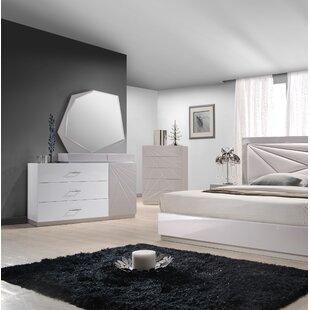Ernesto 3 Drawer Dresser with Mirror by Wade Logan