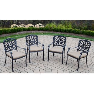Bosch Stacking Patio Dining Chair with Cushion (Set of 4)