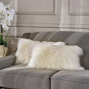 Kingstowne Fur Lumbar Pillow (Set of 2)
