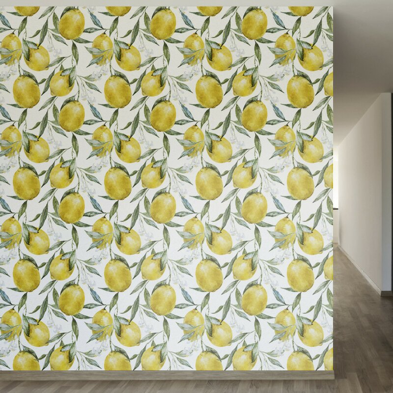 "Life of Lemons Removable 8' x 20"" Floral Wallpaper. Shop Drew's Honeymoon House! {Craft Room: Resource Guide & Sources}"